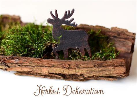 dekoration herbst one pin a week herbst dekoration mit moos baumrinde und
