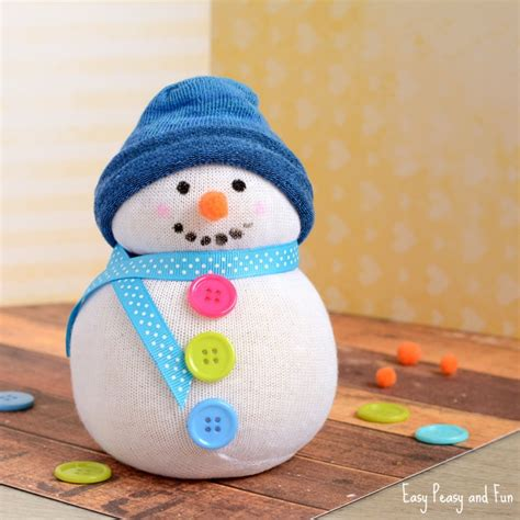 sock snowman how to make them no sew sock snowman craft easy peasy and