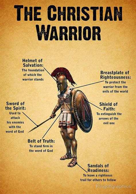 christian warrior tattoo put on the whole armor of god uplifting words
