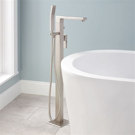 shop project source brushed nickel 2 handle deck mount project source f1a10005cp single handle tub and shower