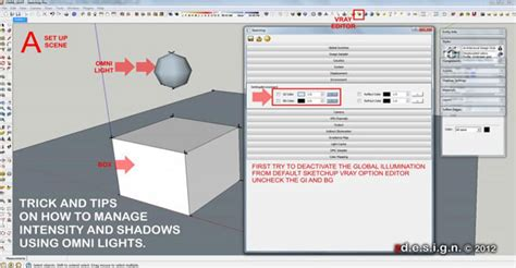 vray sketchup night lighting tutorial how to manage intensity and shadows using omni lights in