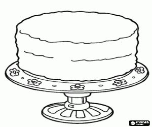 coloring page for cake decorating birthday coloring pages printable games