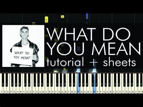tutorial gitar what do you mean justin bieber what do you mean piano tutorial how to