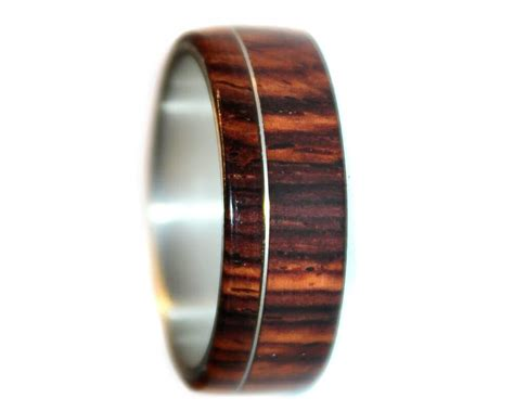 cocobolo and sterling silver wooden ring wooden rings