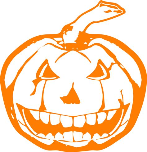 clipart scary jackolantern orange