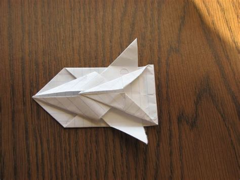 Origami Space Ship - how to make a paper space ship