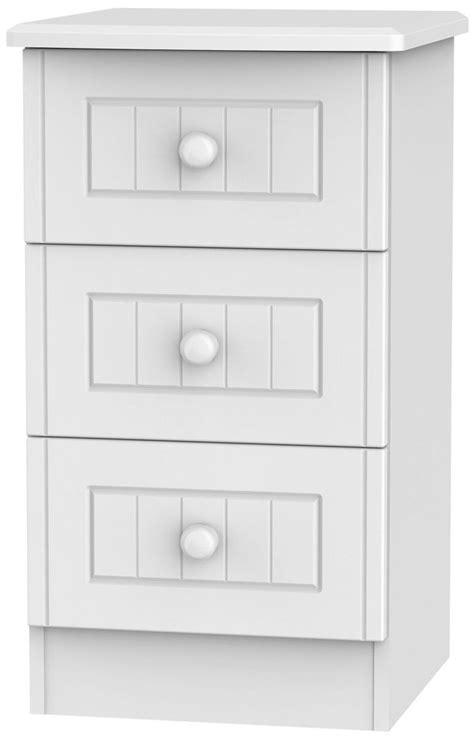 White Locker Cabinet by Buy Warwick White Bedside Cabinet 3 Drawer Locker