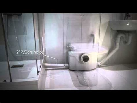 put a bathroom anywhere saniflo macerating unit youtube