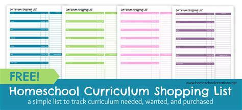 printable curriculum planner homeschool curriculum shopping list free printable free