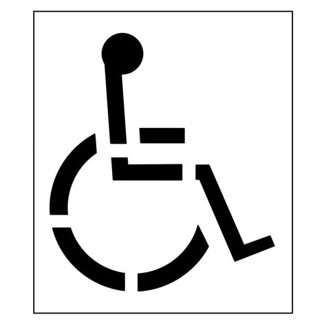 handicap template stencil ease 12 in parking lot number set ccn0053m the