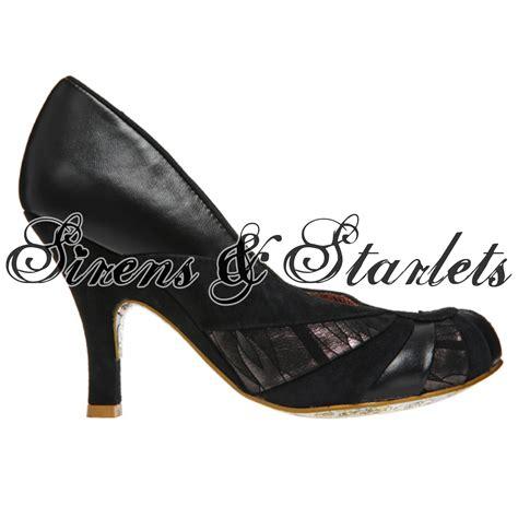 50s style high heels irregular choice bolshy black leather vintage 50s 60s