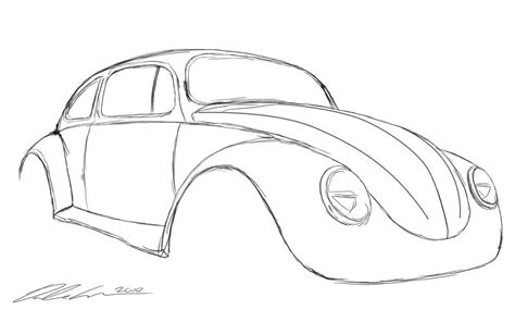 volkswagen beetle sketch custom vw beetle sketch by dazza mate on deviantart