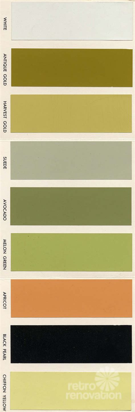 avocado green kitchen cabinets 18 colors for 1960s st charles steel kitchen cabinets