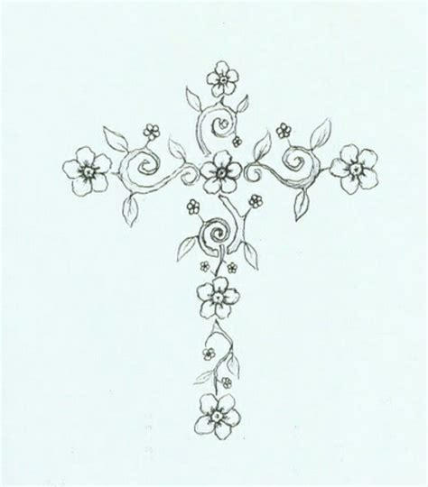 flower cross tattoo designs filigree cross designs www pixshark images