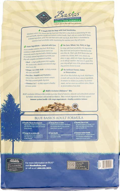 blue buffalo puppy food ingredients blue buffalo basics limited ingredient grain free formula duck potato recipe