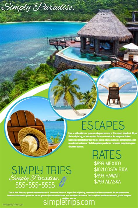 travel agency poster template travel agency flyer click the image to customize on