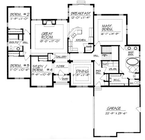One Story House Plans Without Dining Room Home Deco Plans Floor Plans No Dining Room