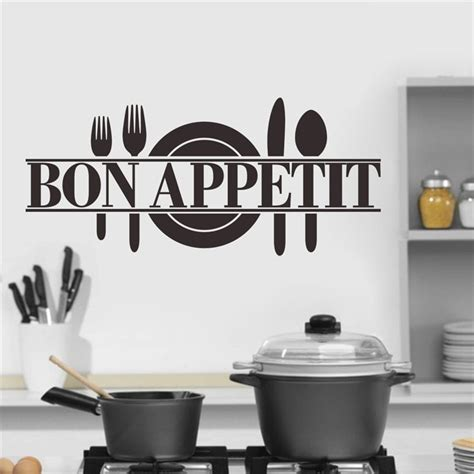 kitchen wall decor stickers bon appetit food wall stickers kitchen room decoration 8344 diy vinyl adesivo de paredes home