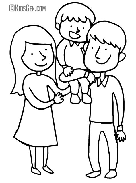 family day coloring page father s day coloring book for kids pictures to color
