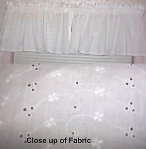 White Eyelet Kitchen Curtains White Eyelet Curtains Ebay