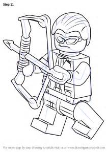 step by step how to draw lego hawkeye