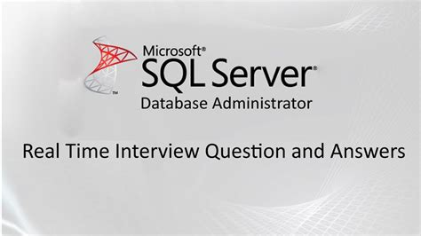 ms sql server dba experienced interview questions
