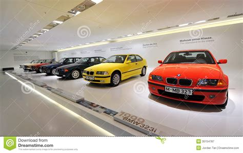 bmw museum timeline row of to modern bmw 3 series on display in bmw