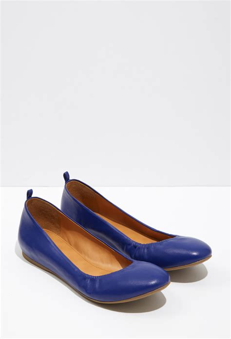 forever 21 flat shoes forever 21 classic ballet flats in blue royal lyst