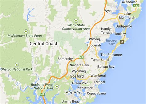 map of central coast about us central coast tenants advice and advisory service