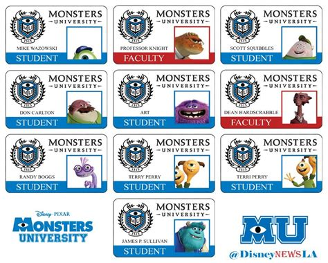 monsters student card template student door tags the one with two for doubles and find