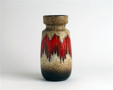 West German Vase west german pottery vase scheurich lora by