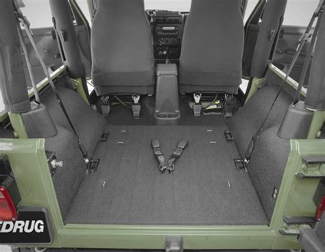 Jeep Wrangler No Back Seat Bedrug And Bedtred Floor And Cargo Liners For Jeep Wrangler