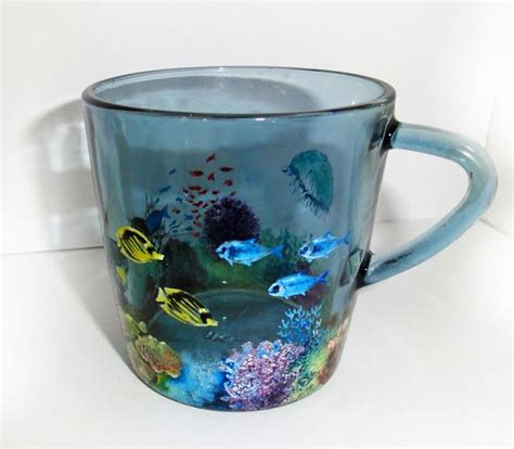 17 Best Images About Hand Painted Glass Mugs On Pinterest