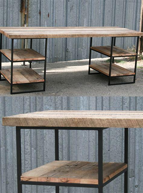 scrivanie legno design scrivania in legno e ferro industrial design verga xlab