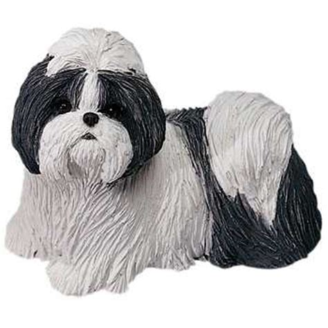 shih tzu silver shih tzu figurine sandicast 174 silver white midsize at animal world 174