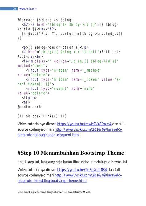 tutorial membuat blog sederhana laravel 5 tutorial membuat blog sederhana dengan laravel 5 3