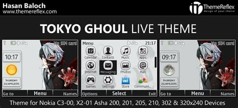 live themes for asha 200 tokyo ghoul live theme for nokia c3 00 x2 01 asha 200