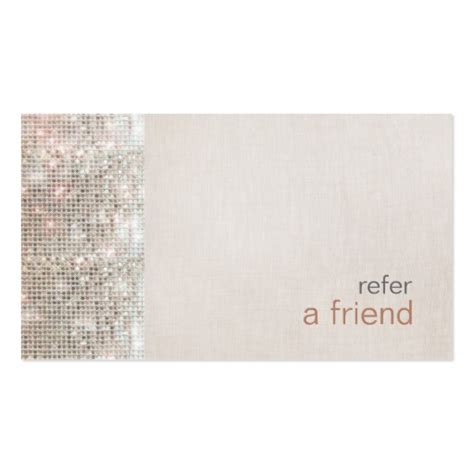 refer a friend card template free modern and hip sequins refer a friend coupon salon