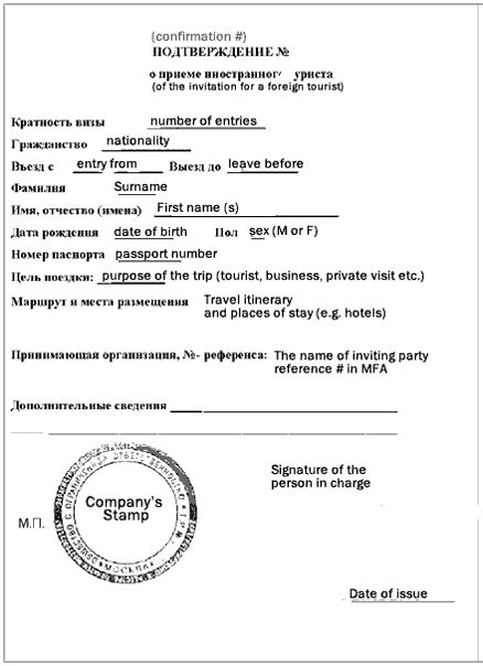 Invitation Letter For Visa Russia russian invitation letter for visa tourist or business