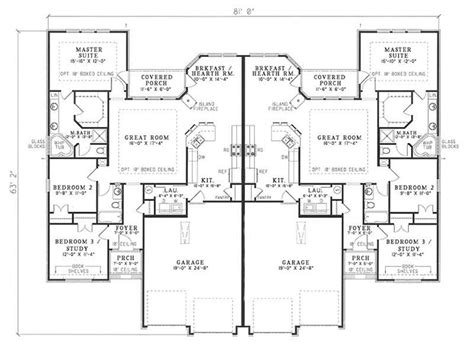 multi unit home plans multi unit house plan 153 1585 6 bedrm 3040 sq ft per