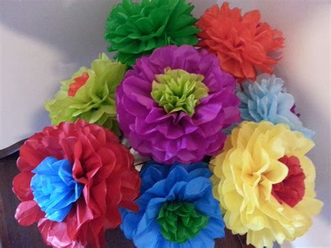How To Make Paper Mexican Flowers - tissue paper flowers set of 8 tissue paper flower
