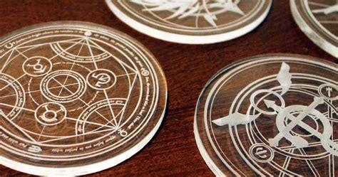 Metal Alchemist Transmutation Circle Gantungan Kunci Keychain fullmetal alchemist coaster set shut up and take my yen