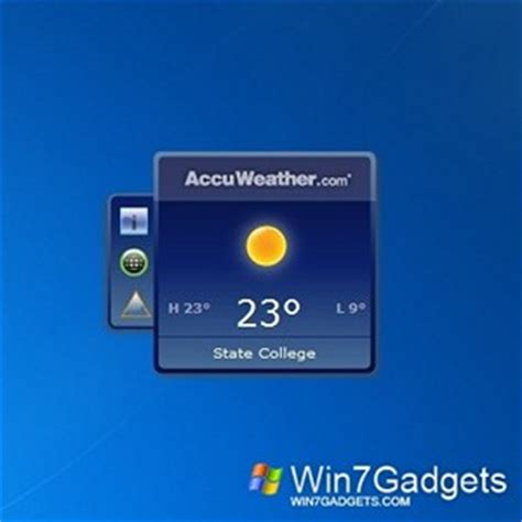 accuweather forecast windows 7 desktop gadget