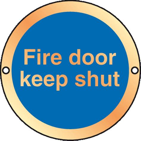 prestige anodized gold fire door keep shut sign | safety signs