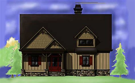 Small Cottage Plan with Walkout Basement   Cottage Floor Plan