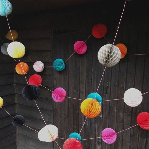 paper ball garland decoration by petra boase ltd