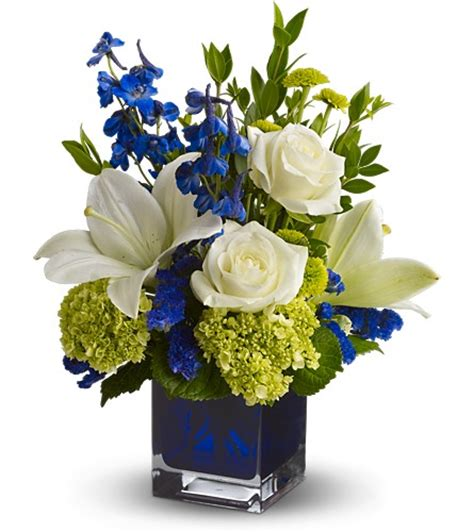 Vl St Blue Boy baby flower arrangements for baby boy or