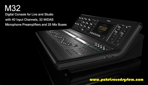Mixer Audio Terbaru mixer audio digital midas m32 paket sound system