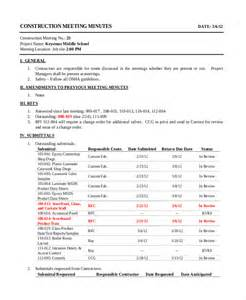 construction meeting minutes template 13 construction minutes template free sle exle