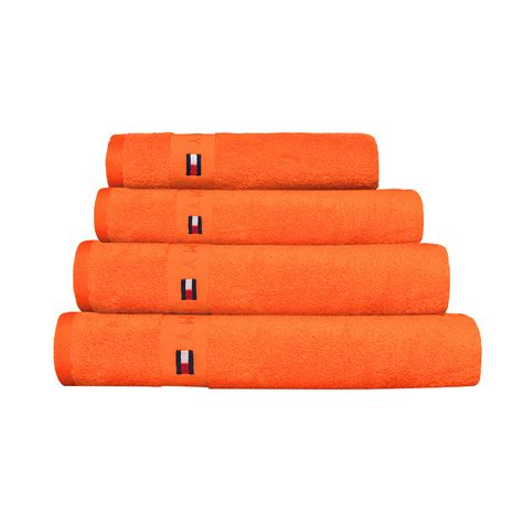 orange towels bathroom buy tommy hilfiger plain orange range towel amara